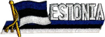 Estonia Embroidered Flag Patch, style 01.